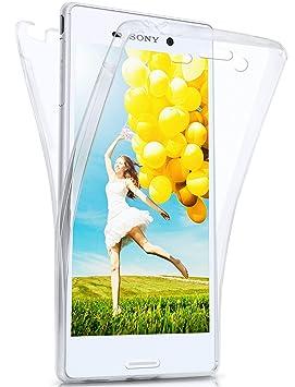 eece64c61f4 moex Caso Doble para Sony Xperia M4 Aqua | Funda de Silicona Transparente  Cubre Todo | Delgada 360° Completa Casos del Smartphone OneFlow | Back  Cover en ...