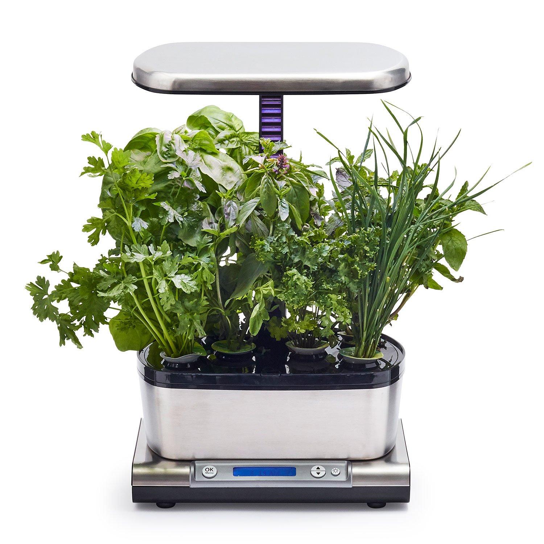 AeroGarden Harvest Elite WiFi with Gourmet Herbs Seed Pod Kit, Stainless Steel