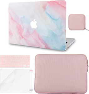 LuvCase 5in1 LaptopCase forMacBookAir 13 Inch(Touch ID)(2020) A2179 Retina Display HardShell Cover, Slim Sleeve, Pouch, Keyboard Cover & Screen Protector (Pale Pink Mist)