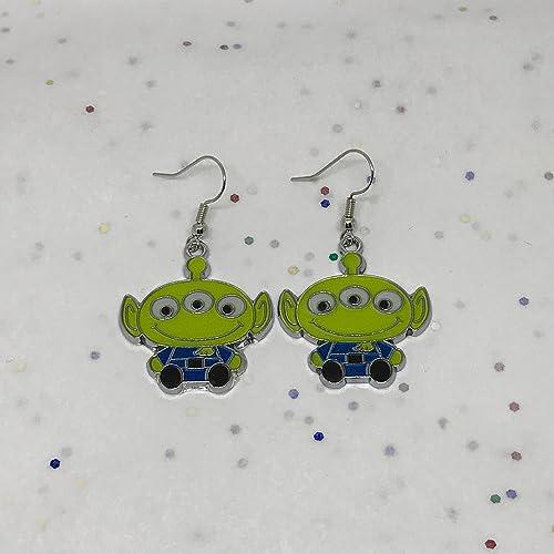 c276d4928ef7f Disney Inspired Toy Story Alien Earrings