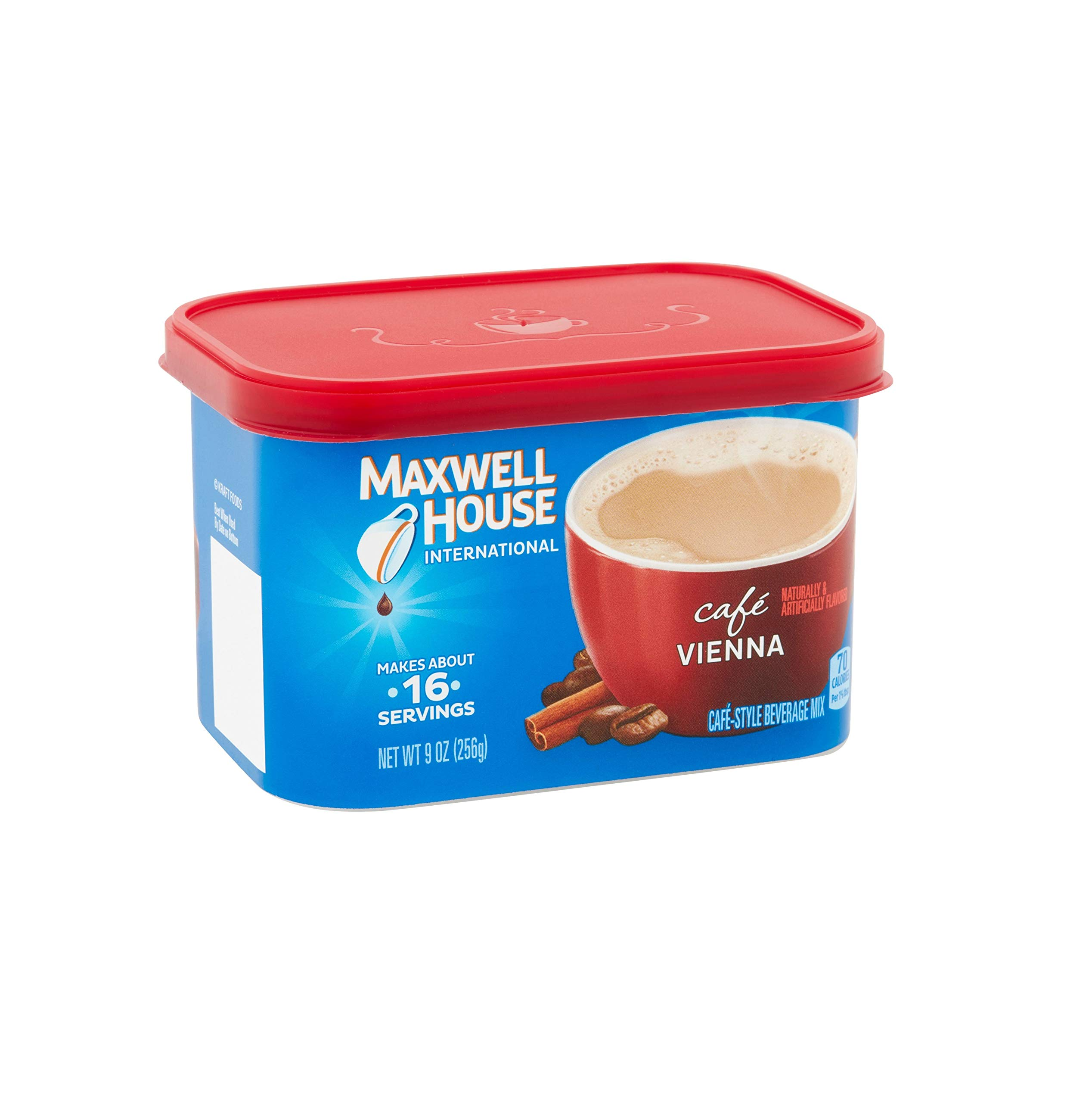 Maxwell House International Coffee Café Vienna, 9-Ounce Cans (Pack of 6)