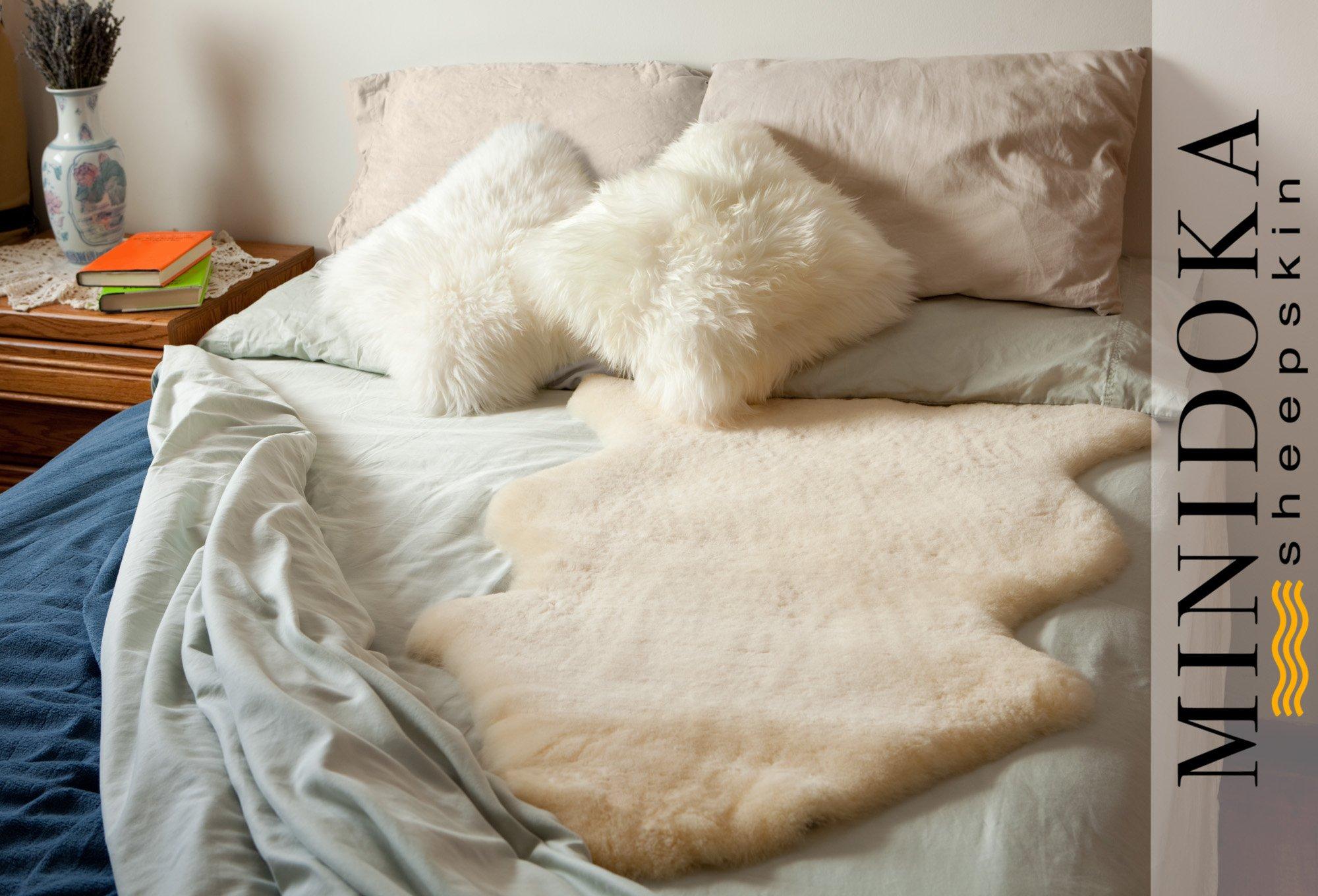 Minidoka Sheepskin Medical Underlay, XL 41 inches and up, Plush and Silky Soft Merino Lambskin, by Desert Breeze Distributing