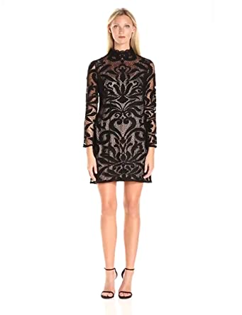 Adrianna papell deco lace dress