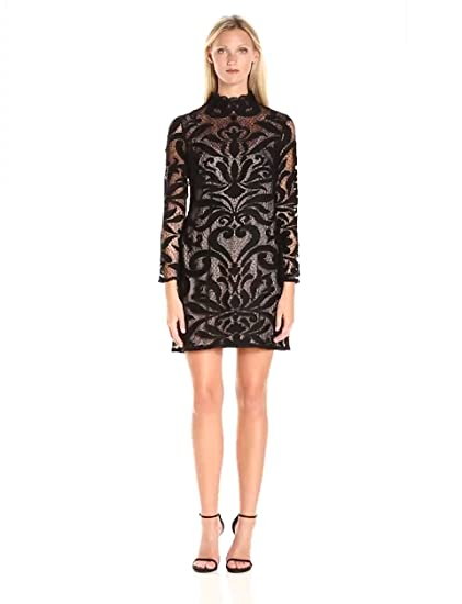 Adrianna papell plus shift dress with mesh detailing car