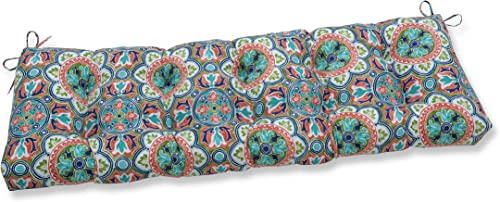 Pillow Perfect Outdoor/Indoor Lagoa Tile Flamingo Tufted Bench/Swing Cushion