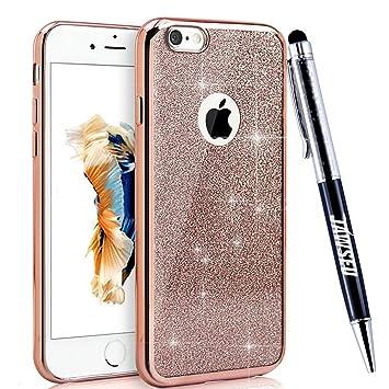 85dc0d208c2 Funda iPhone 5S, Carcasa Caso iPhone 5, JAWSEU Apple iPhone SE Carcasa Caso  Cover Purpurina llamativa ...