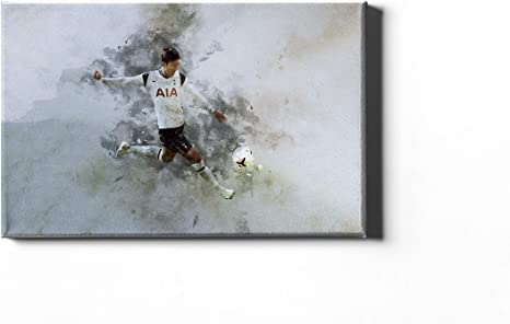 Tottenham Hotspur Son Heung min Framed Canvas Print (20x14 inches)