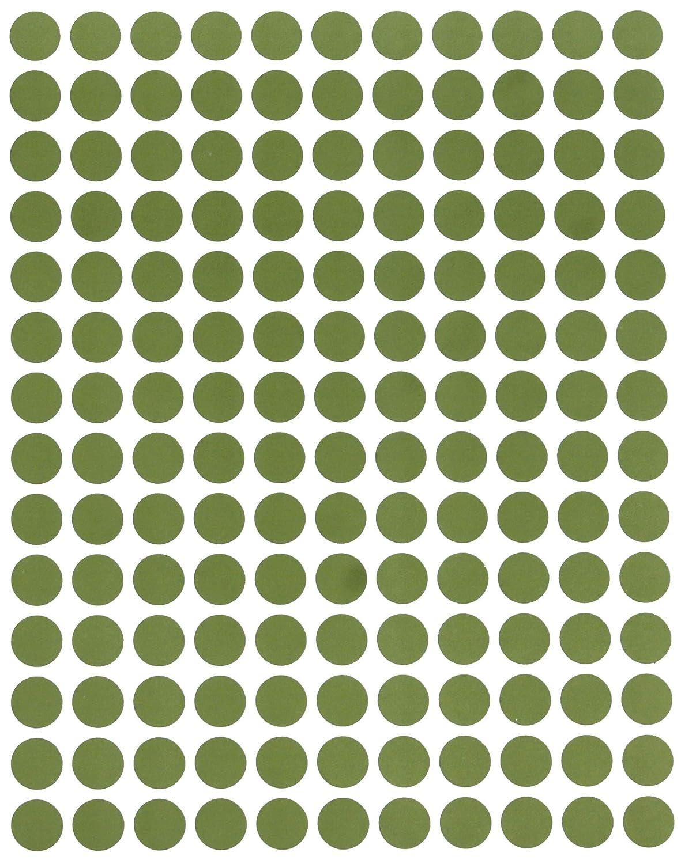 Confezione da 700 Pezzi Royal Green Adesivi Rotondi Multiuso Gialli da 10 mm Etichette Colorate Scrivibili da 1 cm