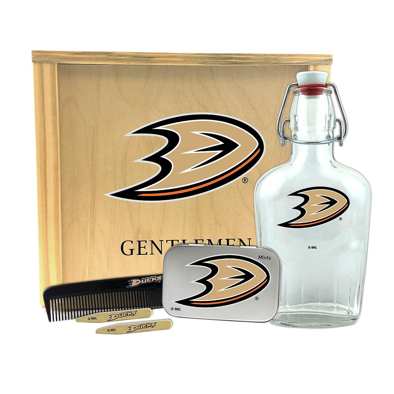 Worthy Promo NHL Anaheim Ducks Gentlemens Gift Box Toiletry Edition 1-250 ml Glass Swing-Top Bottle 10 x 9 x 3.75