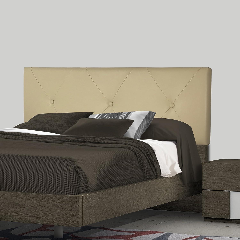 SERMAHOME- Cabecero Toledo tapizado Polipiel Color Blanco. Medidas: 110 x 55 x 7 cm (Camas 80, 90 y 105 cm).