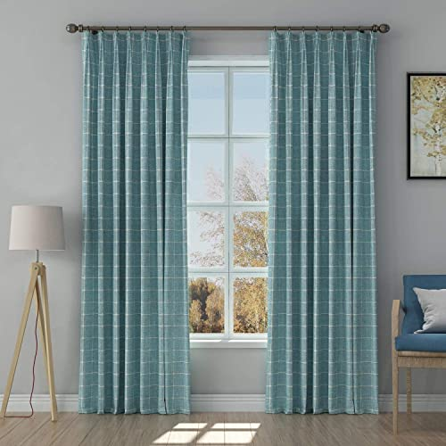 TWOPAGES Curtains Grey Jacquard Window Curtain