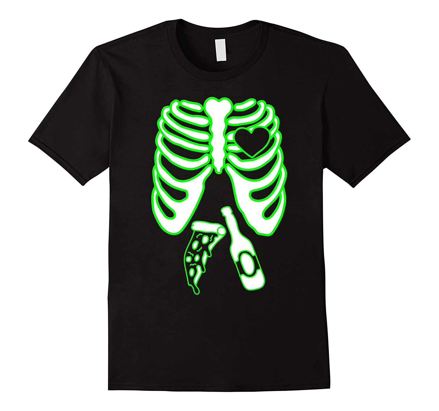 Mens Skeleton Xray Tshirt, Mens Halloween Matching Costume X-Ray-FL