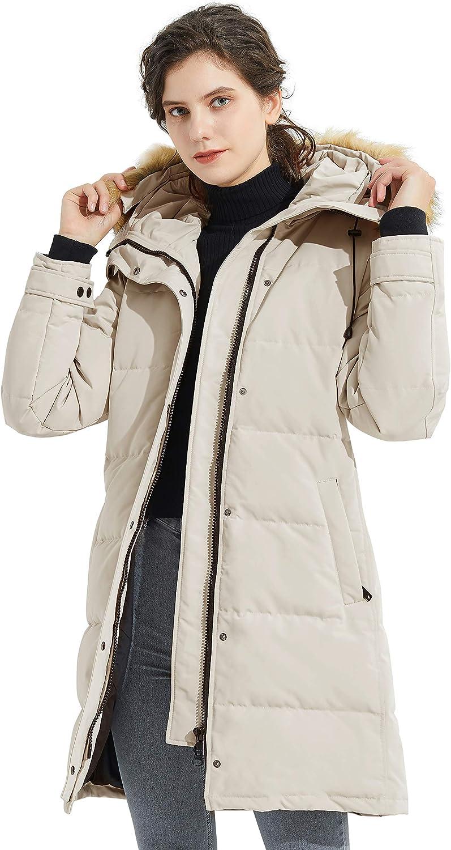Orolay Piumino Isolante da Donna Giacca Trapuntino Invernale con Cappuccio Bianco