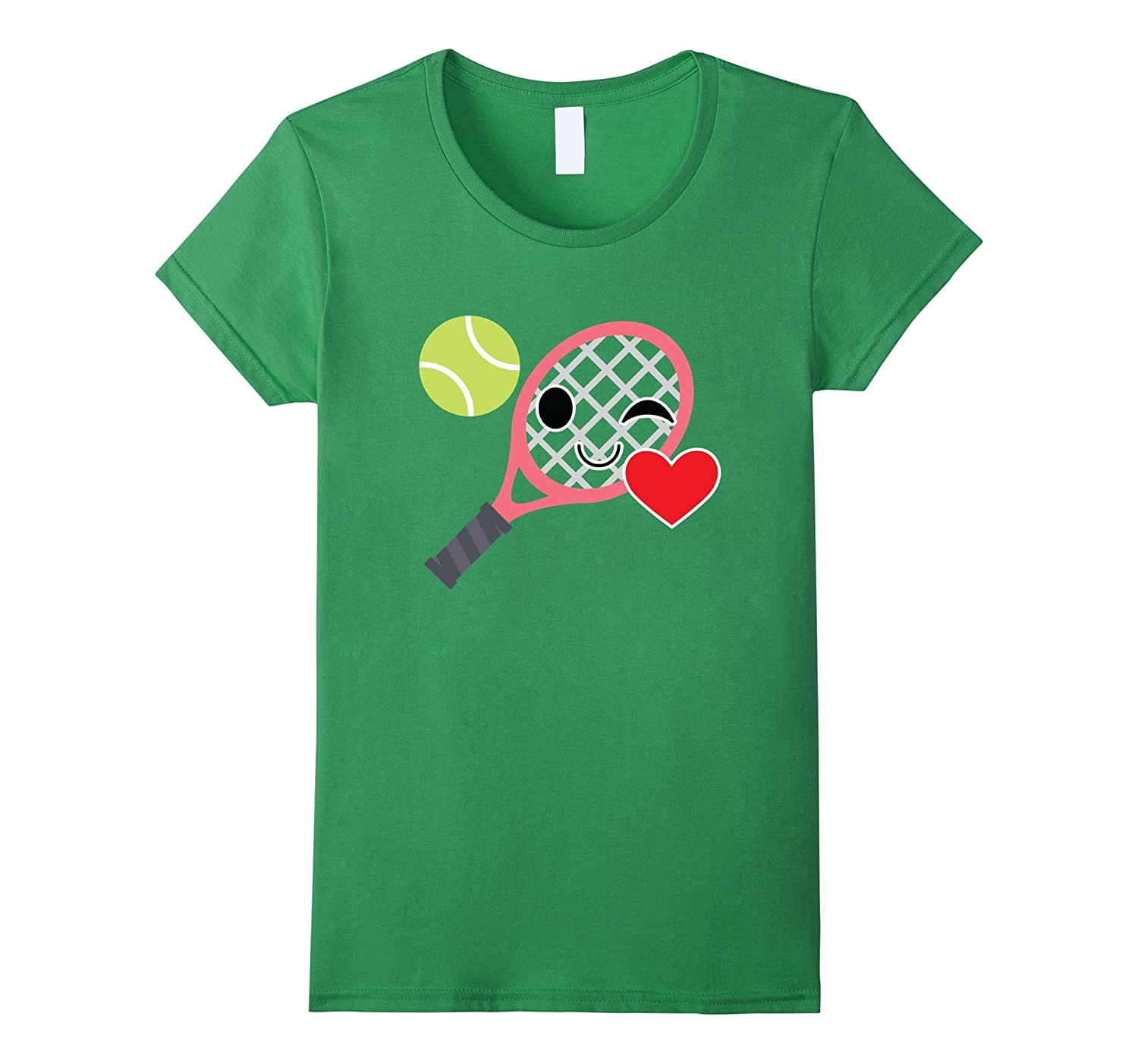 Tennis Emoji Flirt & Blow Kiss Shirt Soft Serve T-Shirt Tee