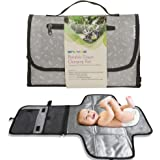 Enovoe Portable Diaper Changing Pad for Baby - Convenient, Durable, Waterproof Travel Changing Mat with Built-in Head…