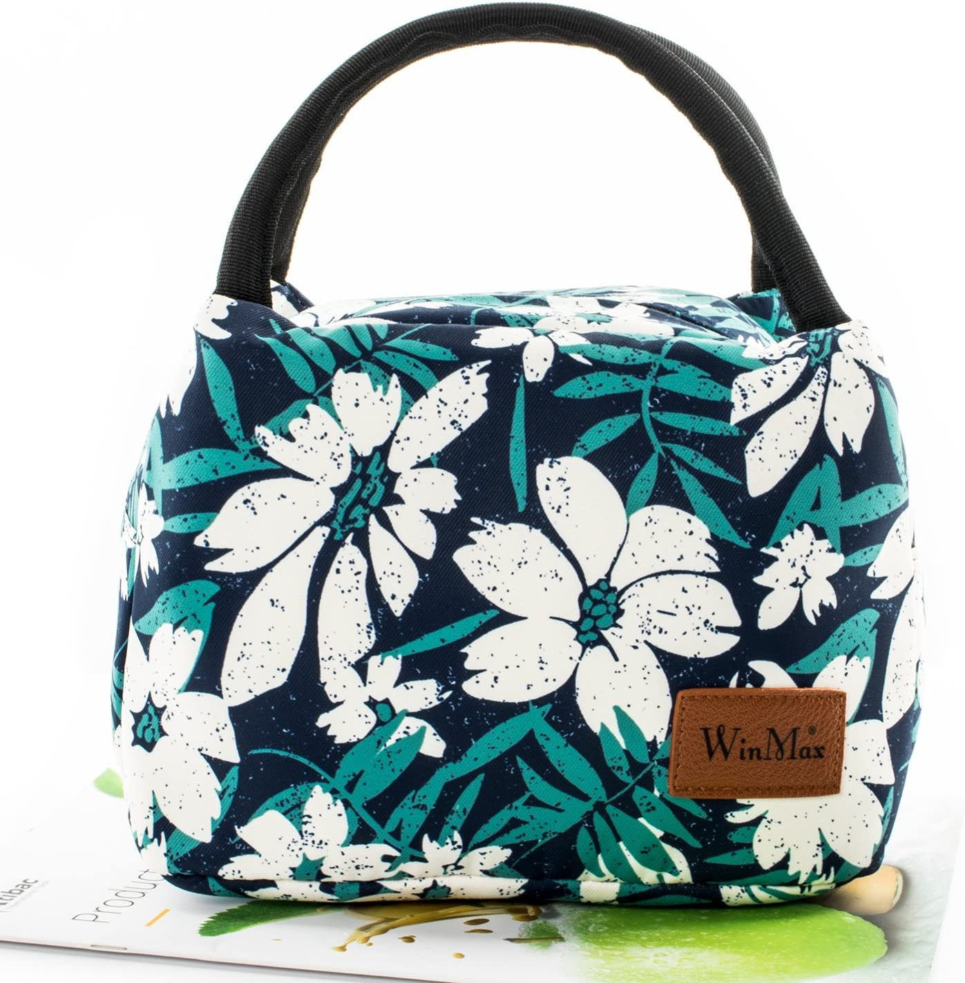 winmax Lunchbox Cute Lunch Bag for Women Floral Lunch Tote for Female to Travel and Work To-Go Food Containers