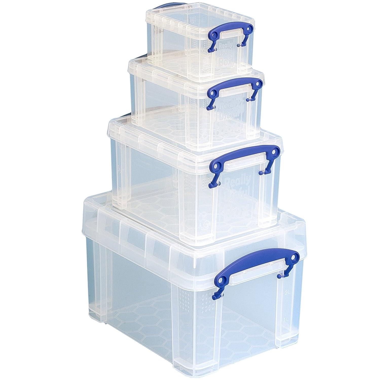 Really Useful Aufbewahrungsboxen-Set transparent