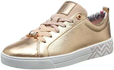 d4681529b26f Amazon.com  Ted Baker Womens Rose Gold Kelleip Sneakers  Shoes