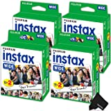 FujiFilm Instax Wide Instant Film 4 Pack (4 x 20) Total of 80 Photo Sheets - Compatible with FujiFilm Instax Wide 300, 210 and 200 Instant Cameras
