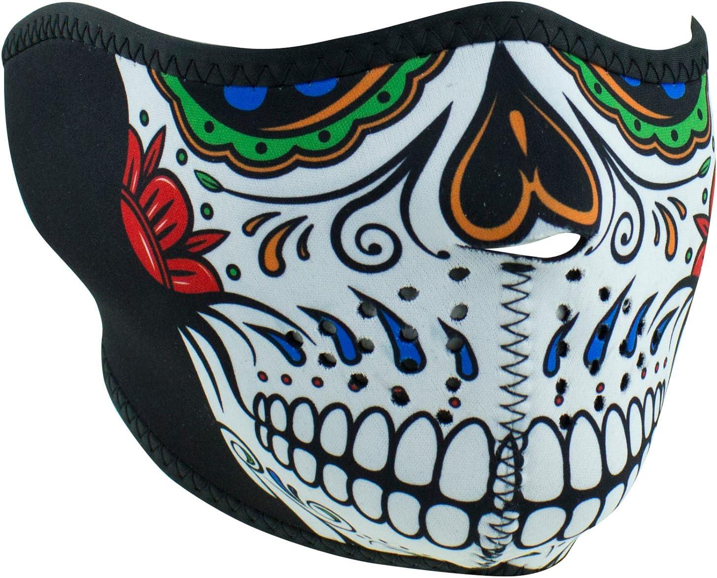 Zan Half-Face Neoprene Mask Muerte Skull WNFM413H
