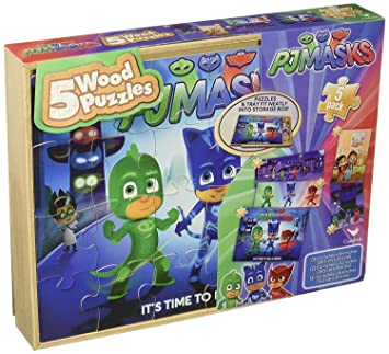 PJ Masks 5 Packs Wood Puzzle