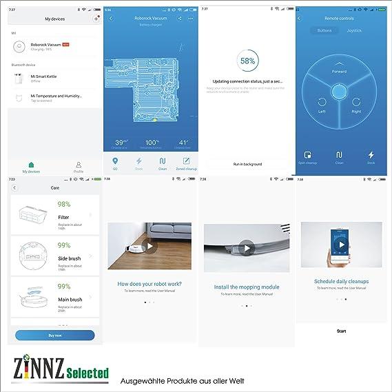 # 3 años de garantía Xiaomi Robot Aspirador 2. TE Generación EU Version Robo Rock S50 con función limpiadora App Control # zinnz Selected #: Amazon.es: ...