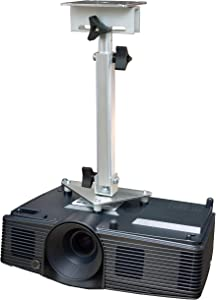 PCMD, LLC. Projector Ceiling Mount Compatible with Acer D4K1701 D4K1702 E270 H7850 HE-4K20 HT-4K20 M550 with Lateral Shift Coupling (Telescoping 13-20-Inch Extension)
