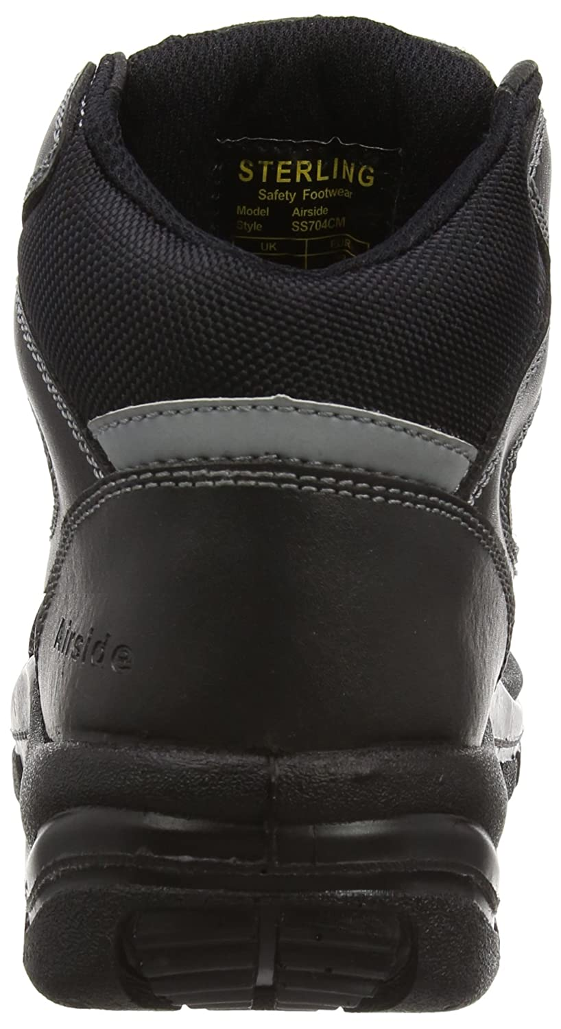37067749045 Airside Unisex Adults Ss704Cm Safety Boots, Black (Black), 10 UK