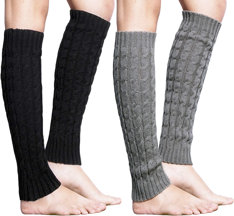Women Girl Knitted Warm Leg Warmers High Elastic Yoga Sports Leg Sleeve Socks