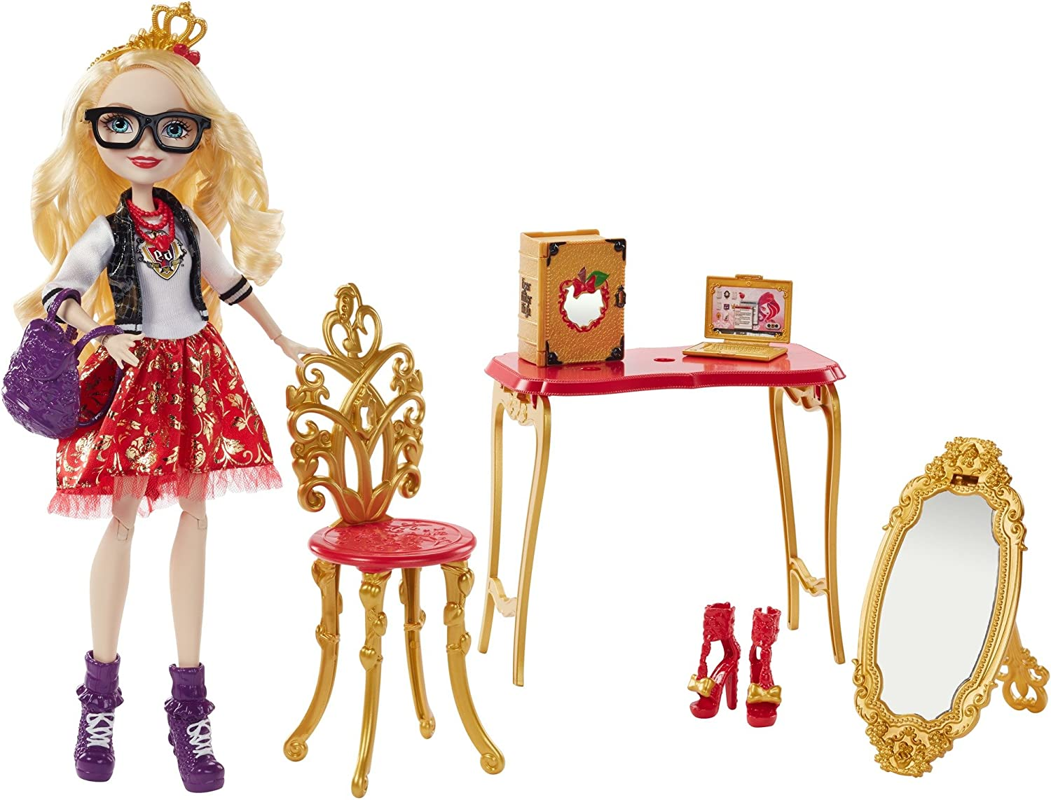 Amazon Com Ever After High Apple White Room To Study Doll Toys Games