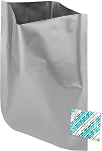 """1 Gallon (10""""x14"""") Mylar Bags & 300cc Oxygen Absorbers For Dried Dehydrated and Long Term Food Storage - Food Survival"""