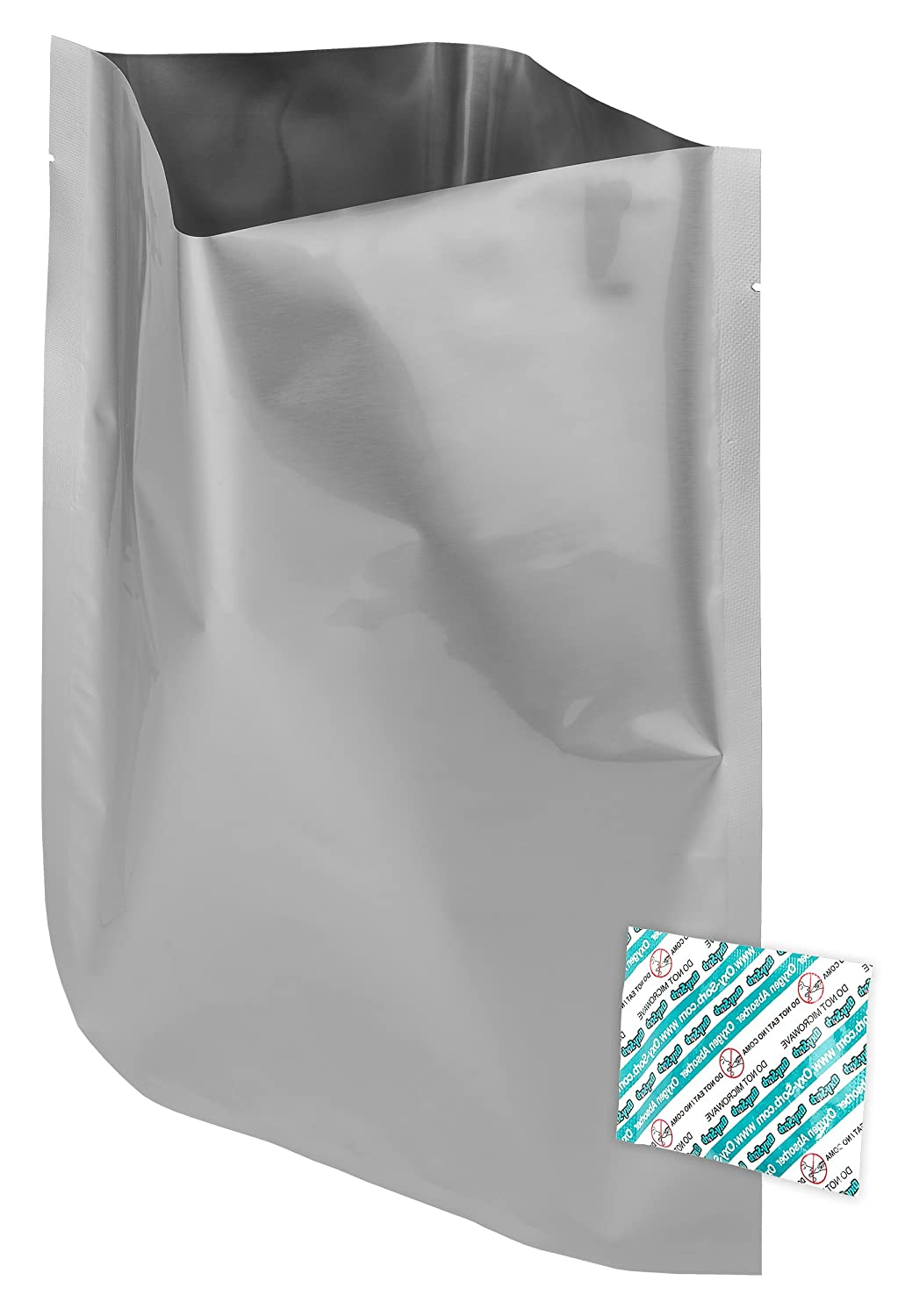 "50-1 Gallon (10""x14"") Dry-Packs Mylar Bags & 50-300cc Oxygen Absorbers for Dried Dehydrated and Long Term Food Storage"