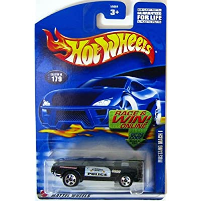 Hot Wheels #2002-179 Mustang Mach 1 Police Tampos Collectibles Collector Car Mattel 1:64 Scale: Toys & Games
