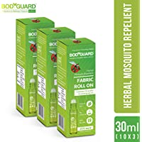 BodyGuard Fabric Roll On for Mosquito Repellent - 30 ml (3 Pack - 10 ml Each)