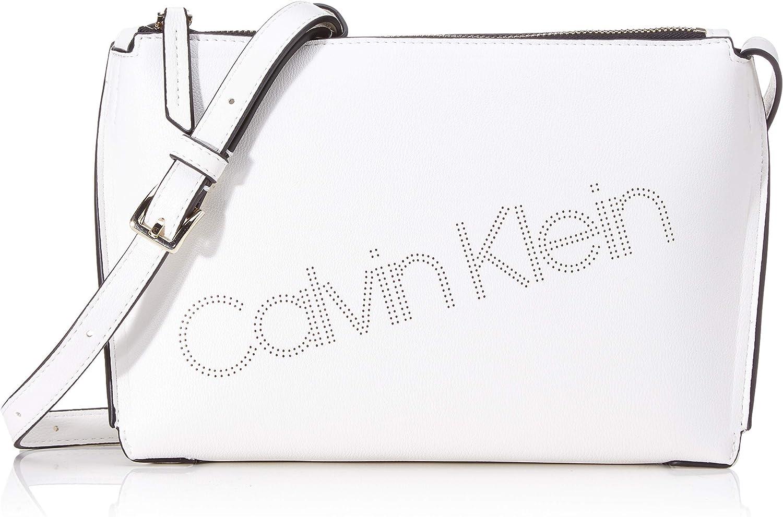 Calvin Klein Punched EW Xbody, Bolso con Bandolera para Mujer, 6x17x24 centimeters (W x H x L)