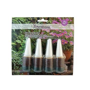 Flora Donna hydroc ontrol automática bio Plantas de Riego dispensador de agua de arcilla para vacaciones Juego de 4: Amazon.es: Jardín