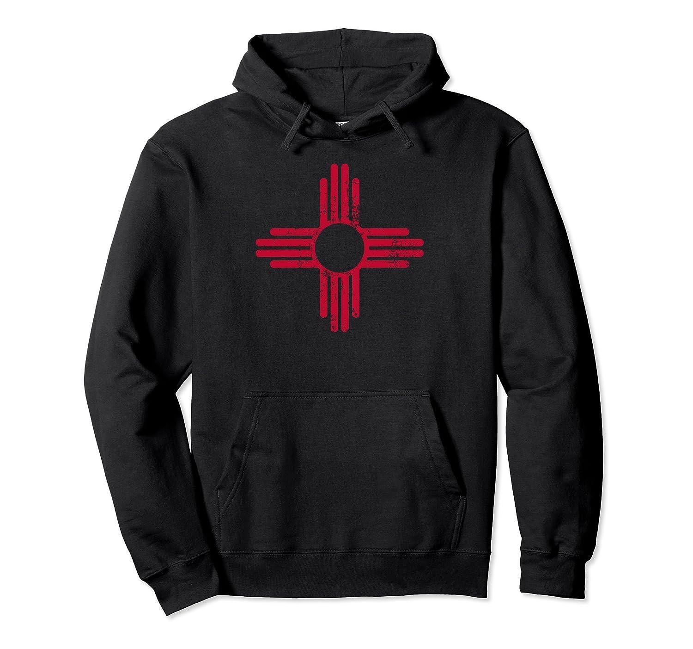 Mens New Mexico Sun Symbol Long Sleeve Crewneck Sweatshirt Cotton Pullover