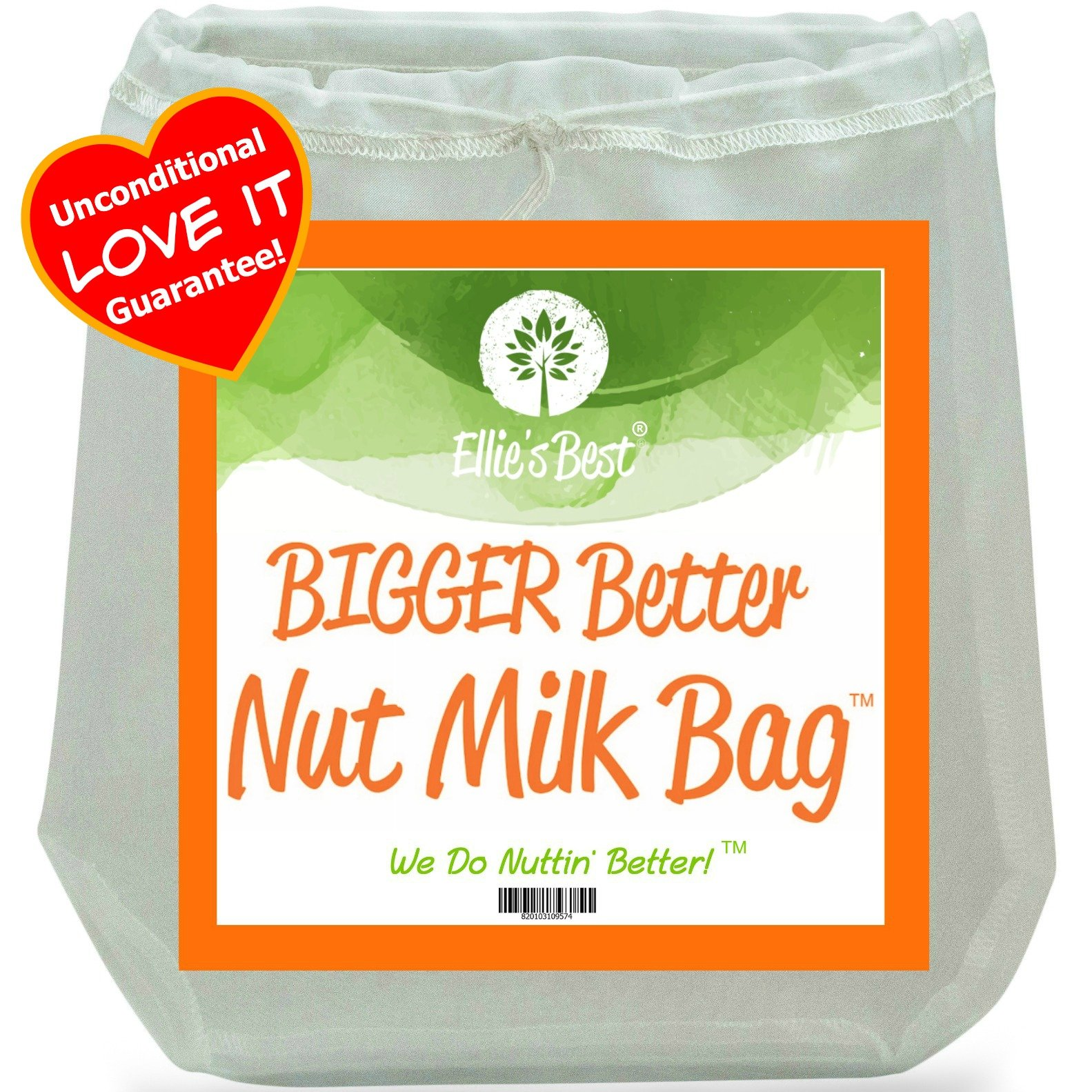 Pro Quality Nut Milk Bag - Big 12''X12'' Commercial Grade - Reusable Almond Milk Bag & All Purpose Food Strainer - Fine Mesh Nylon Cheesecloth & Cold Brew Coffee Filter - Free Recipes & Videos (1)