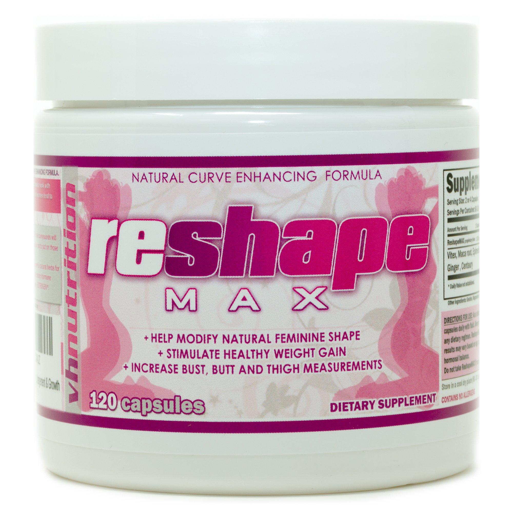 VH Nutrition | ReshapeMAX | Butt Enlargement Pills for Women | Butt Enhancer | Butt Enhancement |1 Month Supply | 120 Capsule