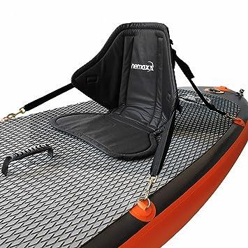 Nemaxx Asiento Confort Kayak Tablas de Sup con Asiento y Zona Lumbar Acolchadas, Asiento Antideslizante Negro