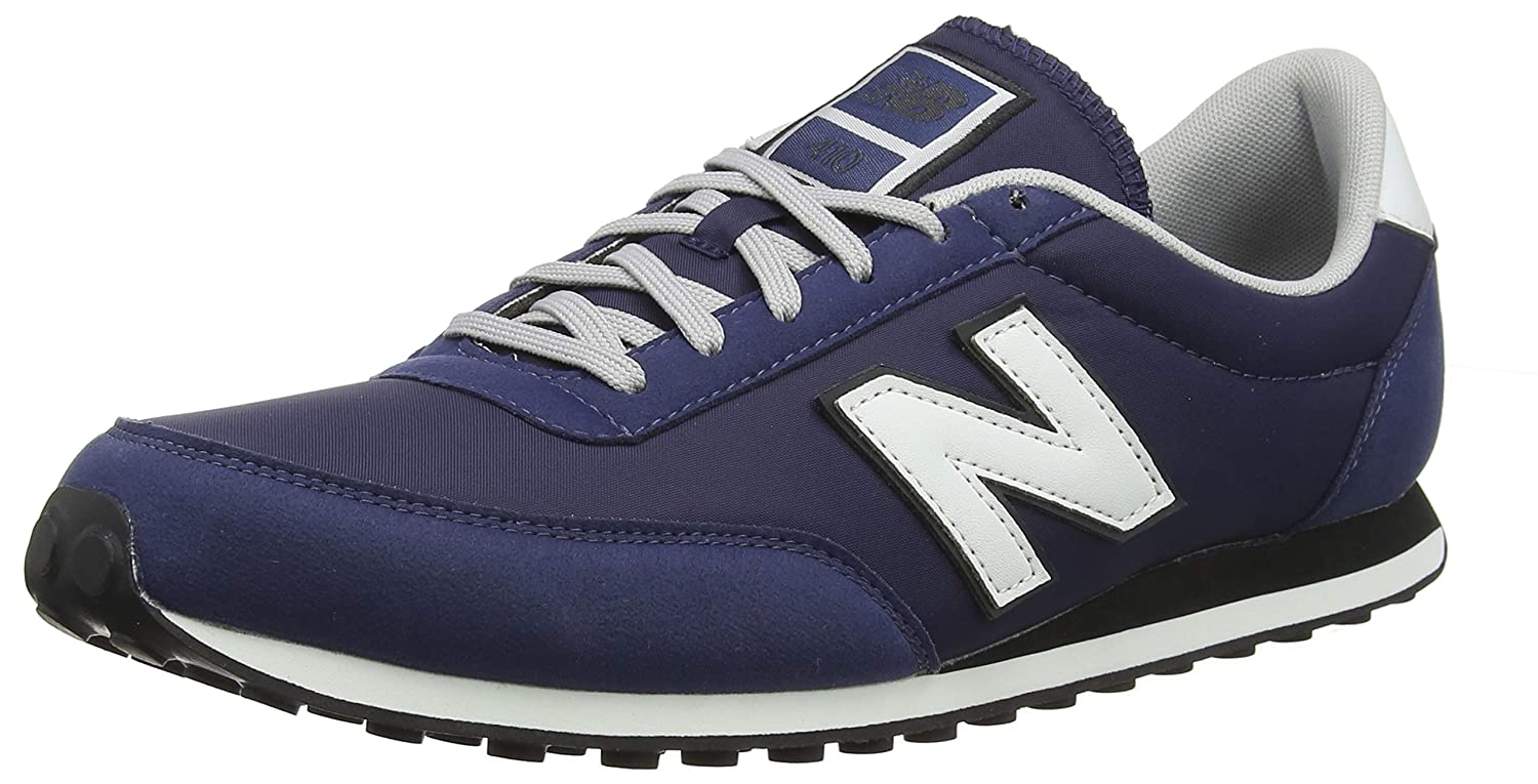 new balance 410 navy and white trainers