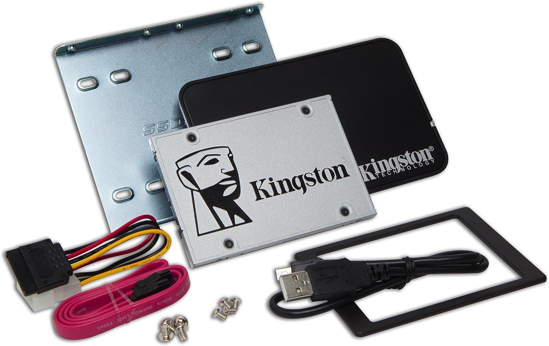 "Kingston Digital 240GB SSDNow UV400 SATA 3 2.5"" Solid State Drive with Bundle Kit SUV400S3B7A/240G"