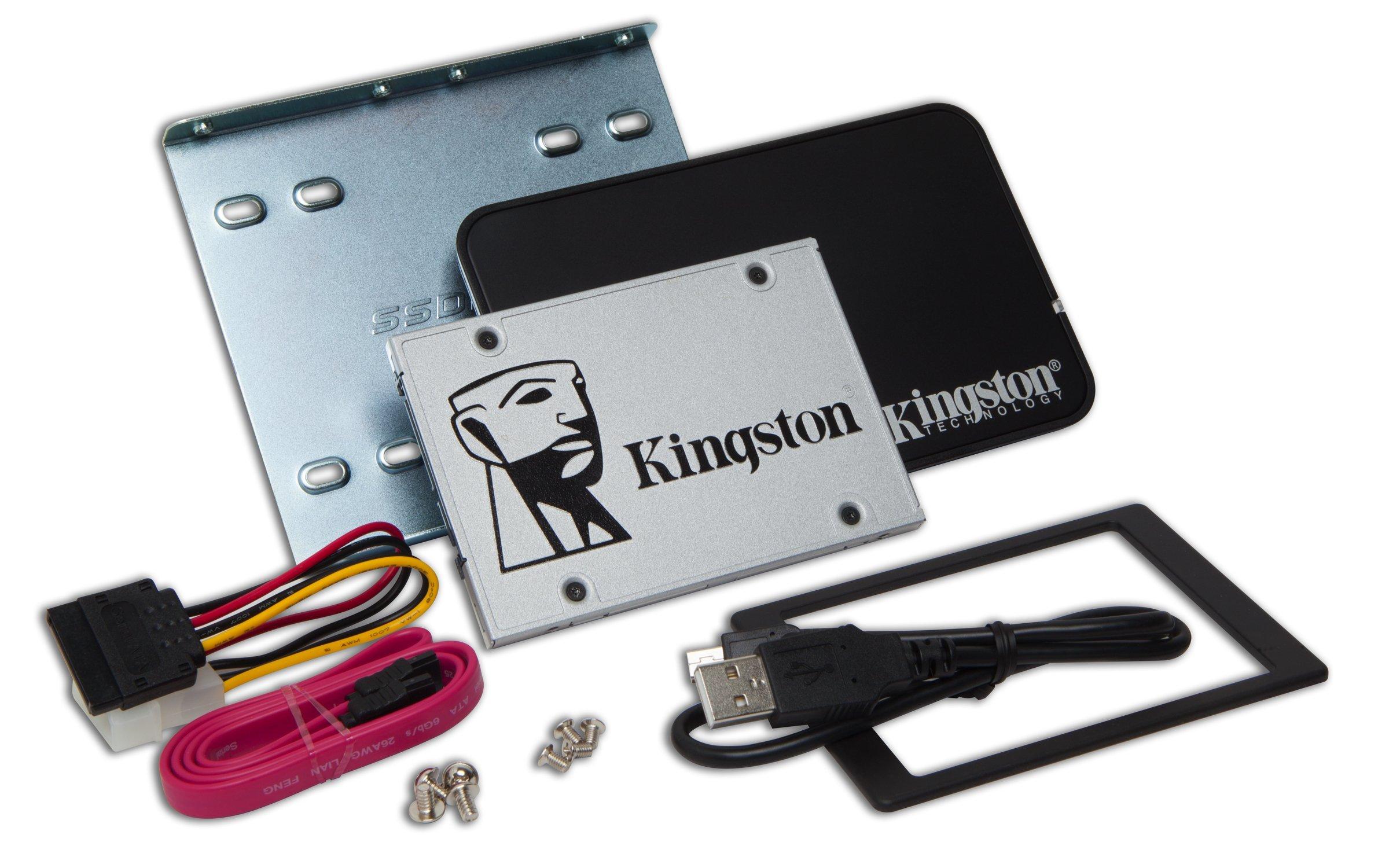 Kingston Digital 240GB SSDNow UV400 SATA 3 2.5'' Solid State Drive with Bundle Kit SUV400S3B7A/240G by Kingston
