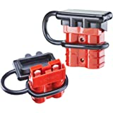 Orion Motor Tech 6-8 Gauge 50A Battery Quick Connect/Disconnect Updated Extra Thick Wire Harness Plug Kit for Recovery Winch