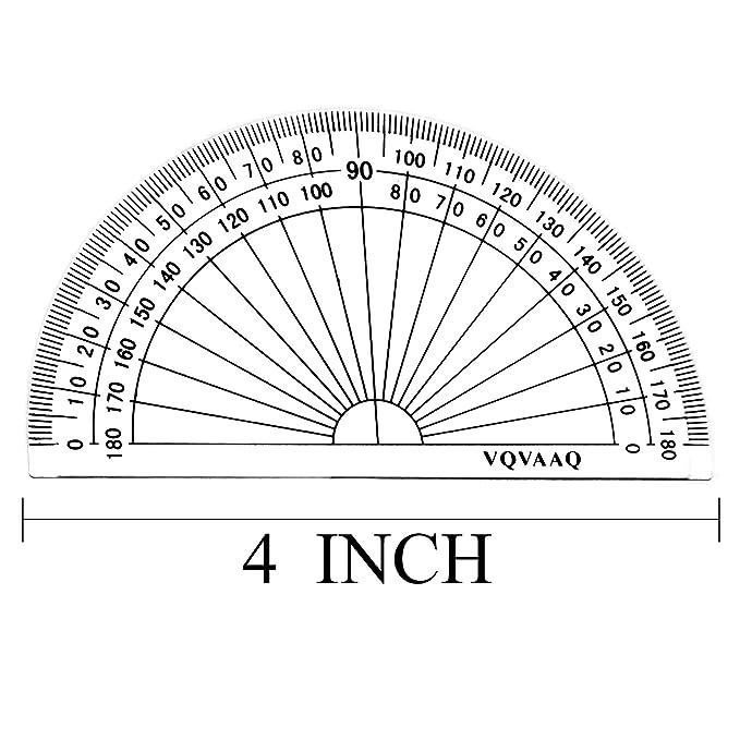 Lineale Set Linealset Mit Geodreieck und Winkelmesser Rundlineal Zeichendreieck