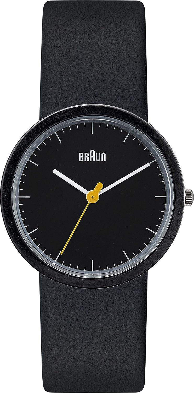 Braun Damen-Armbanduhr XS Classic Range Analog Quarz Leder BN0021BKBKBKL