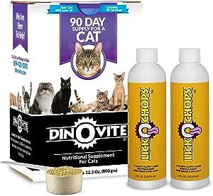 Dinovite for Cats Plus 2 Bottles of LickOchops