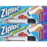 Amazon Com Ziploc Vacuum Starter Kit 3 Quart Bags 1