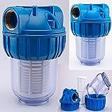 Basal Vorfilter 1'' - 3000 L/h für Garten Pumpen/Hauswasserwerke/Schmutz Filter/Sandfilter/Plus Wandhalterung und Filterschlüssel