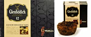 One Box Glenfiddich Luxury Mincemeat Pies(6 pies) and One Glenfiddich Rich Fruit Pudding- 8 oz